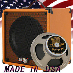 1x12 Guitar Speaker Extension Cab W/ 8 Ohms CELESTION VINTAGE 30 Orange Tolex