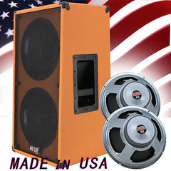 2x12 Vertical Guitar Speaker Cabinet Beauty Orange W/Celestion Seventy 80 Spkrs