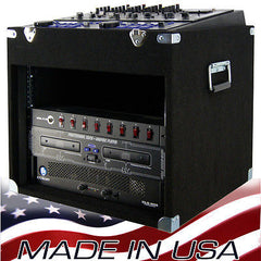EMR-10x8, 10space top x 8 space bottom Economy Mixer Rack for DJ & karaoke gears