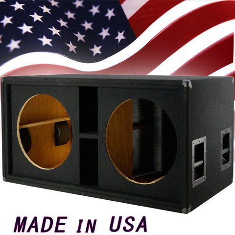 Greg S Pro Audio Empty Dual 18 Inch Bass Subwoofer Cabinet