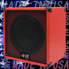 1 X 12 Fire Red guitar speaker cabinet w CELESTION Greenback speaker
