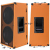 2X12 Beauty Orange Vertical Guitar Spkr Cabinet w/Celestion Classic Lead 80 Speakers