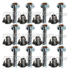 BOLTS AND T NUTS, for casters mounting 100 pcs
