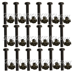 T NUTS & BOLTS 10/32x11/4'' phillips pan head for speakers mount, 100 pcs