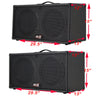 2X12 Guitar cabinet Charcoal Black Tolex w/CELESTION Classic Lead 80 Speakers