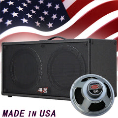 2X12 Guitar Speaker cabinet Charcoal Black Tolex w/CELESTION Rocket 50 Speakers
