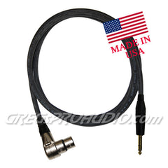"AUDIO CABLE, 1/4""trs-XLRf,right angle for balanced signal 6 ft lenght"