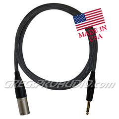 "AUDIO CABLE, 1/4""trs-XLRm for balanced signal 6 ft lenght"
