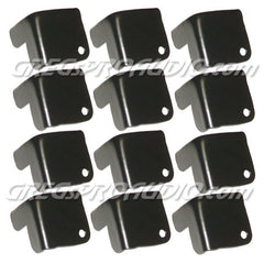 Metal Cabinet Corner, black, 2 leg notched, 8 pieces