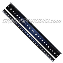 RACK RAIL 8 space 10/32 tread black