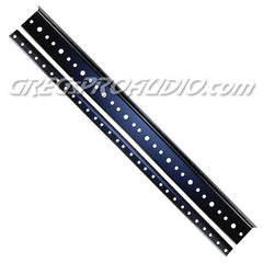 RACK RAIL 10 space 10/32 tread black