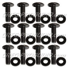 RACK SCREWS 10/32x5/8'' black oxide with polietylene washer 100 pack