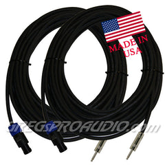 SPEAKER CABLE, speakon-1/4'' connector  12 gauge, 50 ft, 2 units