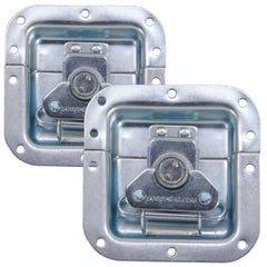 "2pcs) Recessed Latch 4""X4"" Zinc Original PennElcom L905-915Z"
