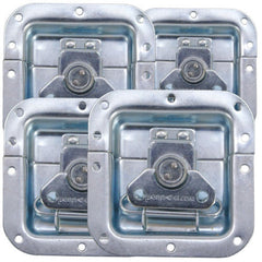 "4pcs) Recessed Latch 4""X4"" Zinc Original PennElcom L905-915Z"