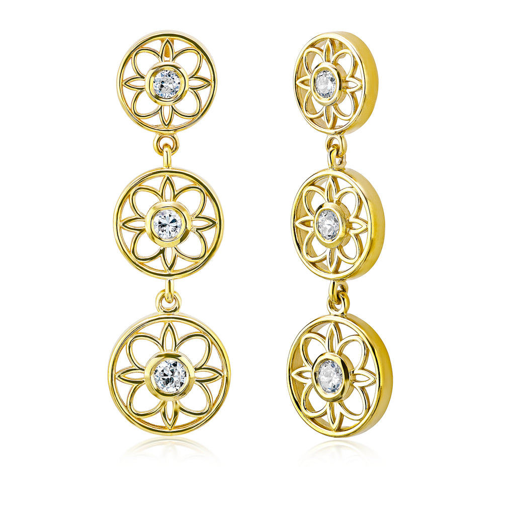 Flower Earrings • .46tw Old Europeans