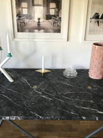 NEB Rectangular Table with Top in Grigio Carnico Marble