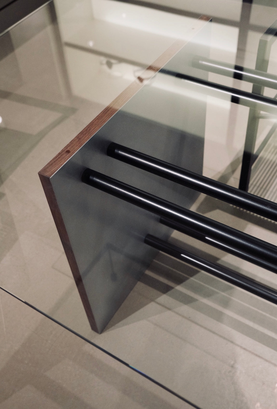 PS Bespoke Rectangular Glass Table