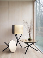 NEB Hexagonal Side Table with Top in Brass, Zinc or Copper