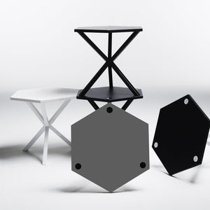 NEB Hexagonal Side Table with Top in Laminate