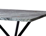 NEB Rectangular Table with Top in Verde Italia Granite