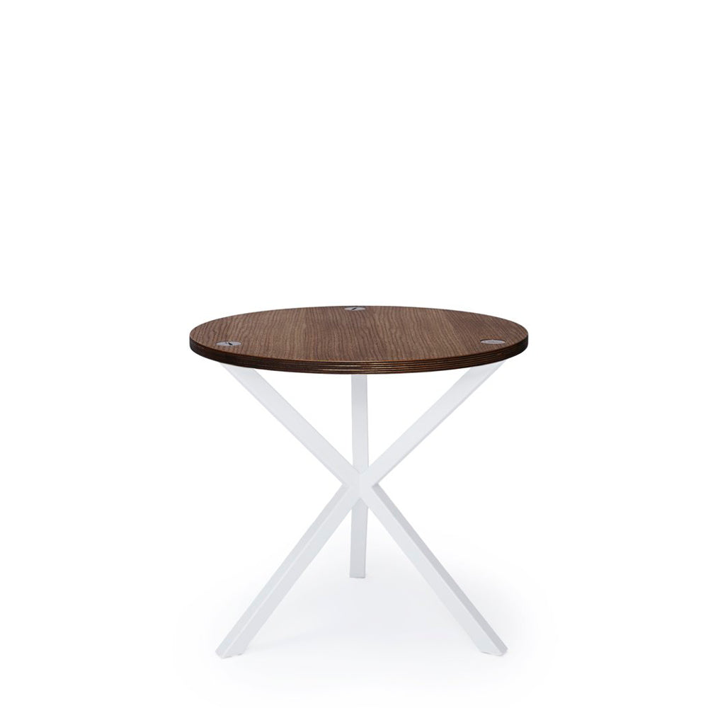 NEB Round Side Table with Top in Oak