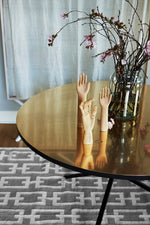 NEB Round Dining Table with Top in Brass, Zinc or Copper
