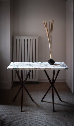 PS Bespoke Console Table in Calacatta Marble