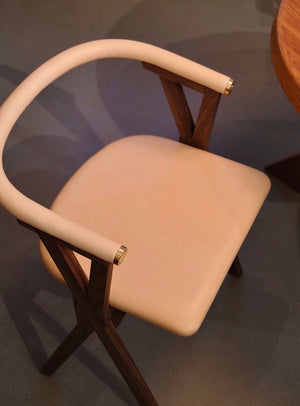 NEB Chair 03 in Walnut and Vegetable Tanned Tärnsjö Leather