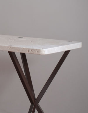 NEB Console table in Travertine stone