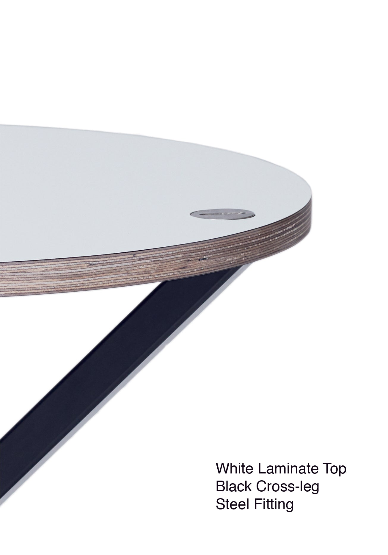 NEB Round Side Table with Top in Laminate