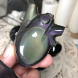 Rainbow Obsidian Anatomical Heart