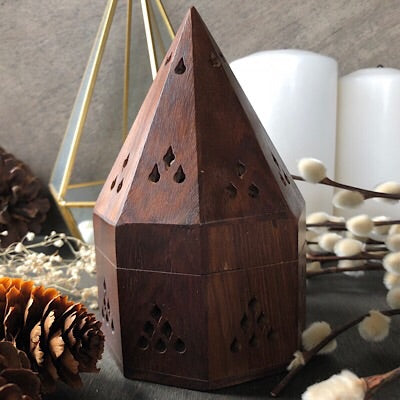 Prism Incense Burner with 5 Large Palo Santo Cones