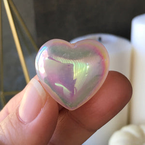 Angel Aura Soothing Rose Quartz Heart