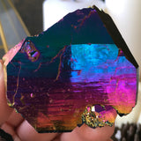 Rainbow Aura Time Keeper Quartz Shard