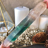 Double Terminated Banded Fluorite Point
