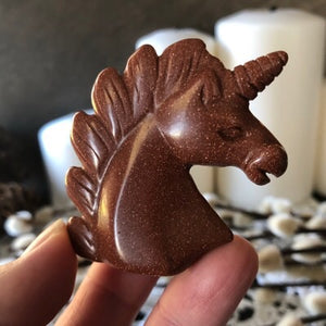 Mini Glittering Goldstone Unicorn