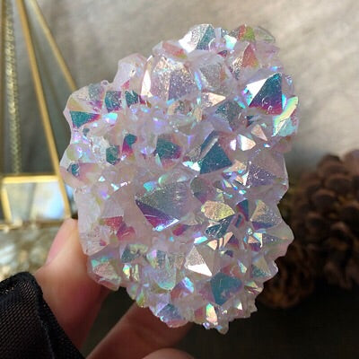 Angel Aura Cosmic Glow Spirit Quartz Plate