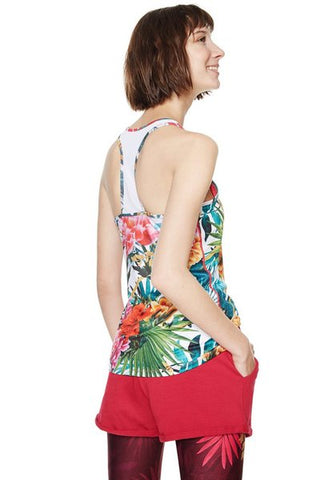 Racerback Top with Bra - Tropic