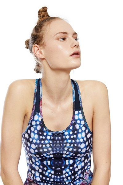 Racerback Top with Bra - Atlantis