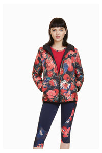 Reversible Jacket - Padded Scarlet Bloom