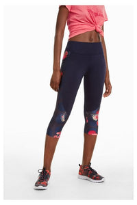 Capri Leggings - Scarlet Bloom