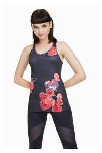 Racerback Top - Scarlet Bloom