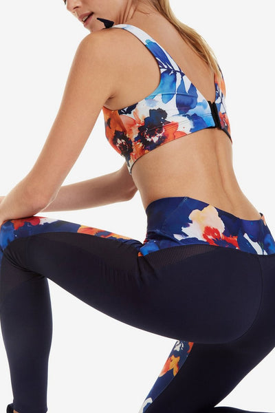Camo Flower Slim Leggings
