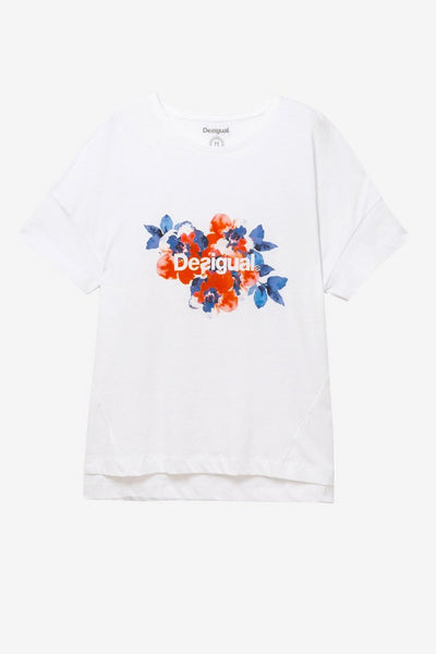 Boyfriend Fit T-Shirt - Camo Flower