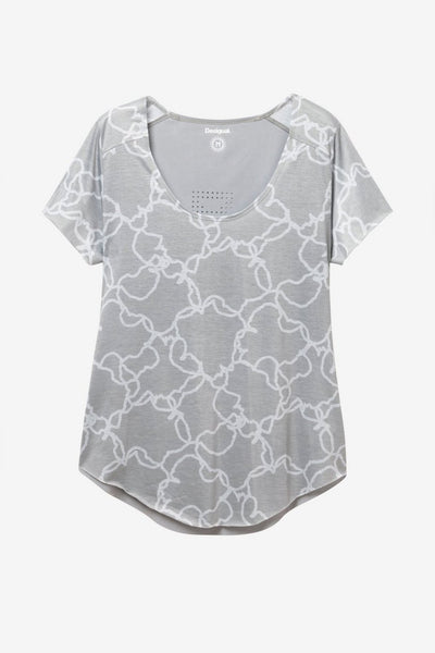 Camo Flower Perforated T-shirt