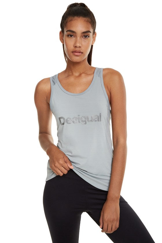 Tank Essentials Floaty Top - Grey
