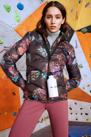 Padded Reversible Floral Sports Jacket