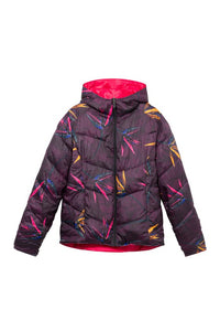 Padded reversible jacket in Ruby Wine