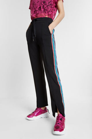Pintuck Sweatpants with Glitter Lurex Stripes